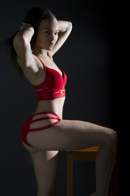 FASHION SHOOT RED LINGERIE