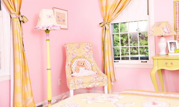 Girl's Bedroom Seating Vignette