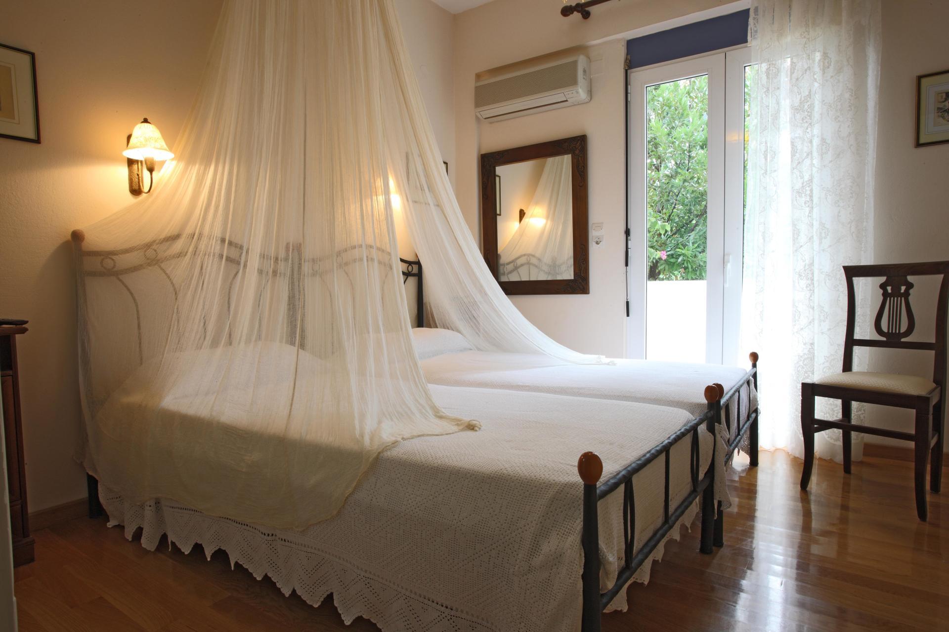 Canopies in twin bedrooms