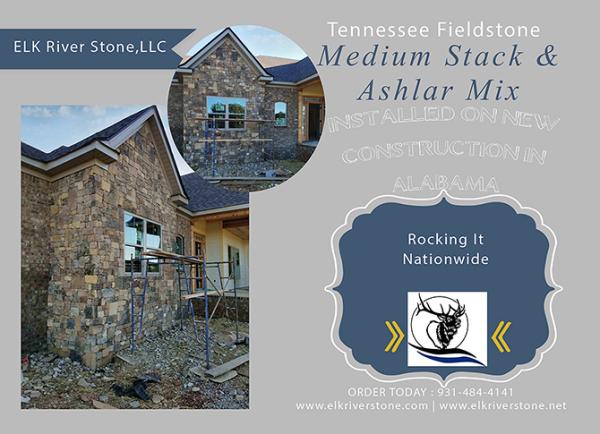 Tennessee Fieldstone Medium Stack & Ashlar Mix