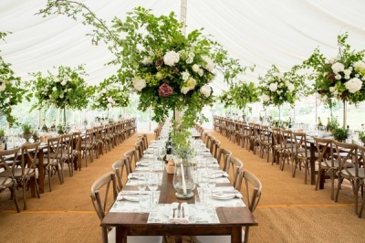 wedding catering table place setting dorset/cornwall set up