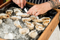 oysters wedding canape indulge dorset catering