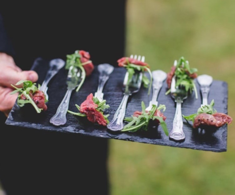 canapes for a wedding by indulge catering tisbury, shaftesbury