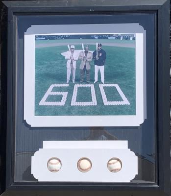 600 Homerun Collage - with 3 Baseballs