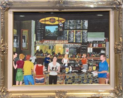 Bar Scene Canvas