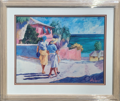 Ladies Walking on the Beach