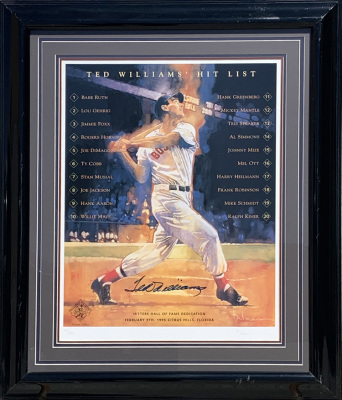 Ted Williams Litho 105/200