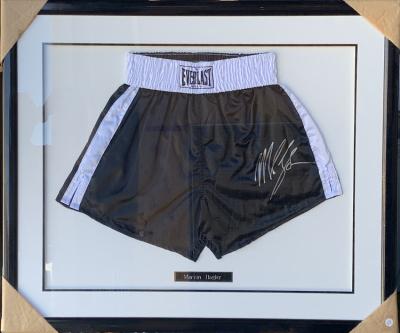 Marvin Hagler Framed Boxing Shorts