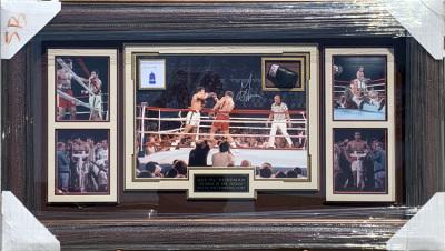 Muhammad Ali & George Foreman Shadowbox Collage