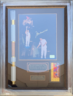 Ali Olympic Torch Shadowbox Collage