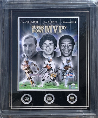 Raider S.B. MVP's with 3 Replica Rings 16x20 Collage