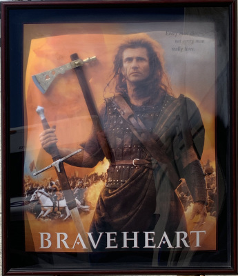 Braveheart Shadow Box Collage w/Axe