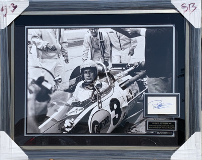 Paul Newman B/W Shadowbox Collage with Cut