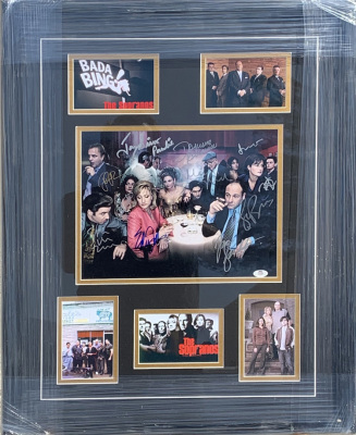 The Sopranos Cast Signed Collage