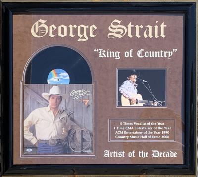 George Straight Album Collage