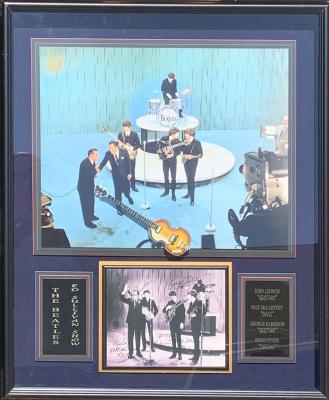 The Beatles Mini Guitar Collage