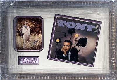 Tony Bennett Album Collage with Photo