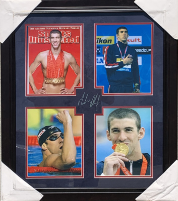 Michael Phelps Laser Collage (#1)