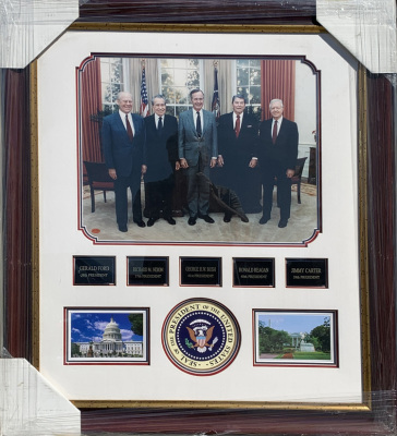 US Presidents Laser Collage through Bush Jr.