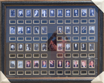 US Presidents Shadowbox Collage w/Seal