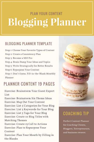 How to Better Plan Your Blog Content Ideas – Blogging Content Planner