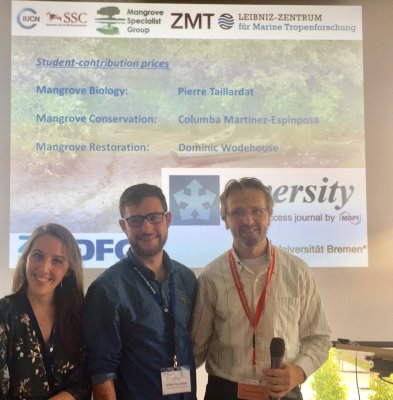 Pierre wins best student presentation award at the IUCN Mangrove Specialist Group meeting!