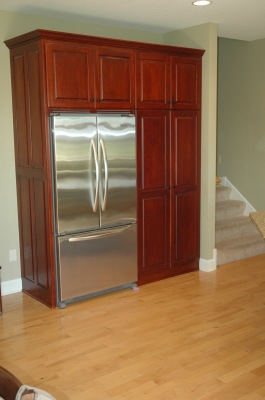 Refrigerator surround & pantry