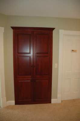 Built-in hall way cabinet