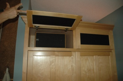 Speaker cloth panel doors
