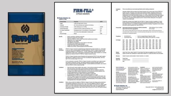 FIRM-FILL® Gypsum Concrete