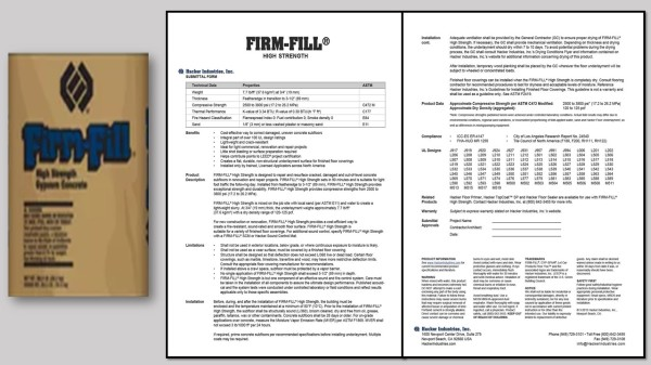 FIRM-FILL® High Strength