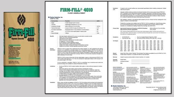 FIRM-FILL® 4010