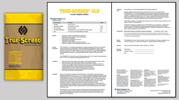 TRUE-SCREED® Cementitious Leveling Underlayment (CLU)