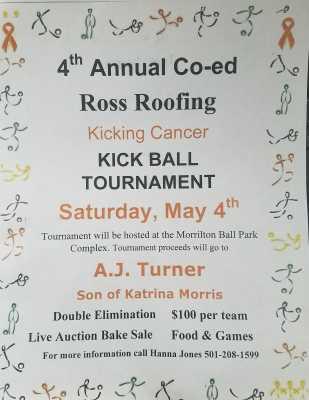 Benefit Kickball Tournament set for May 4th
