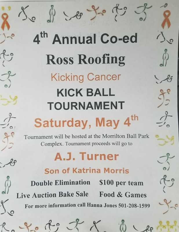 Benefit Kickball Tournament set for May 4th