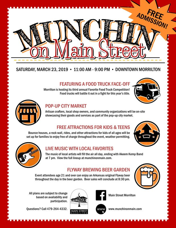 Munchin' on Main schedule announced