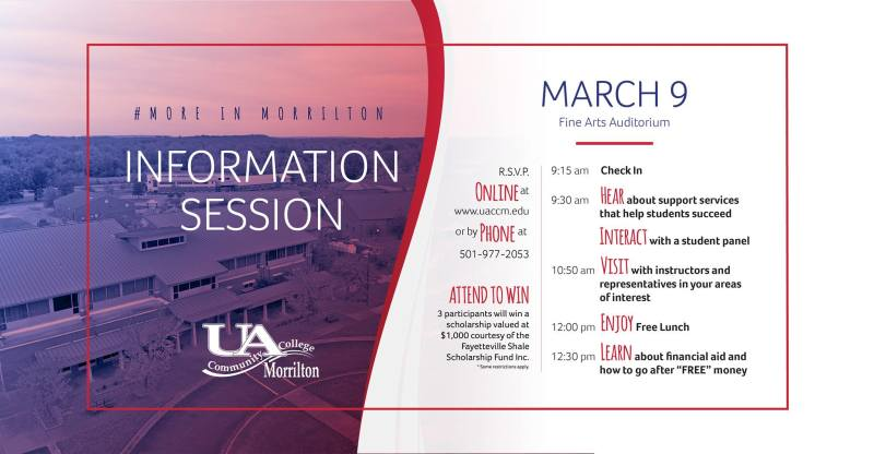UACCM to host Information Session on Saturday