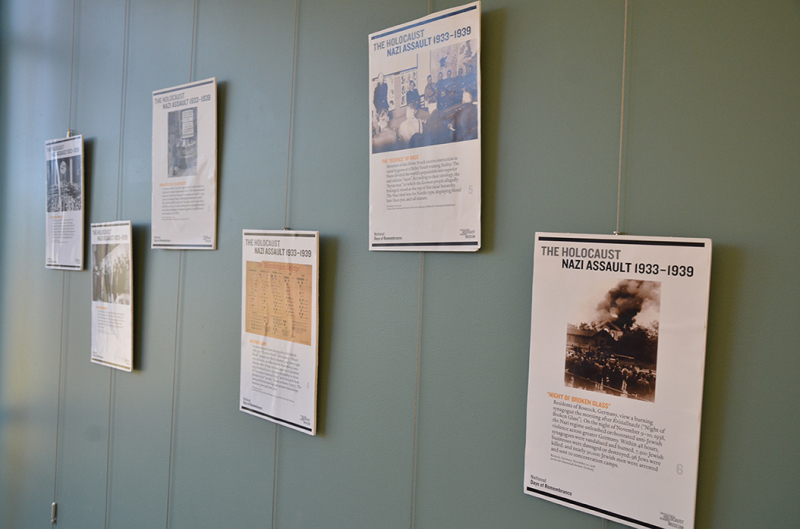 Holocaust exhibit on display at UACCM Library