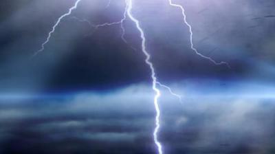 Lightning strikes Morrilton property