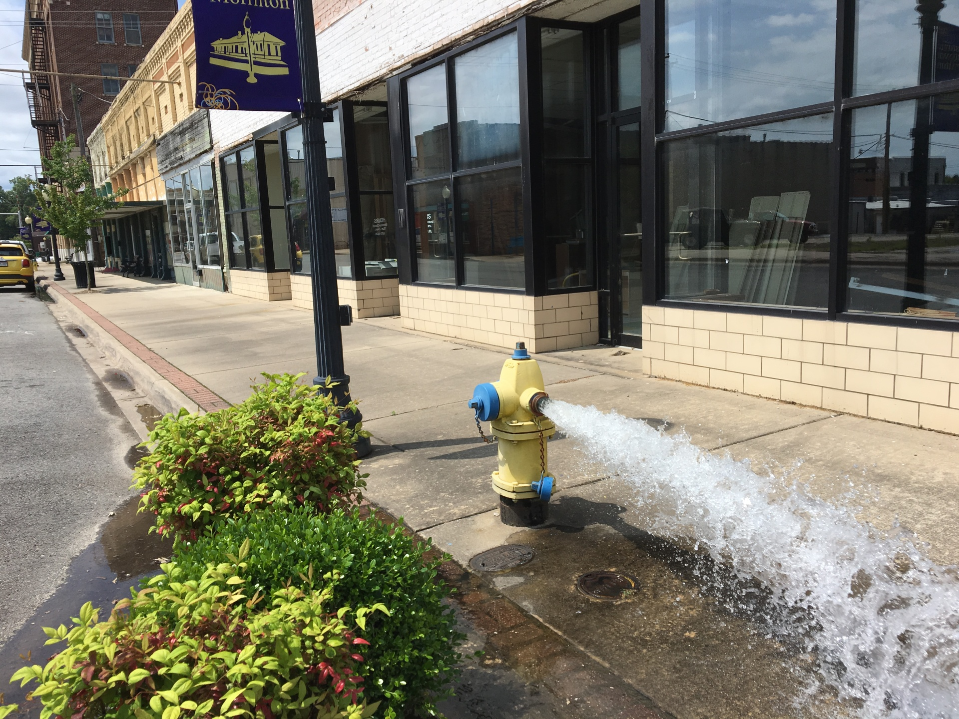 Hydrant flushing underway