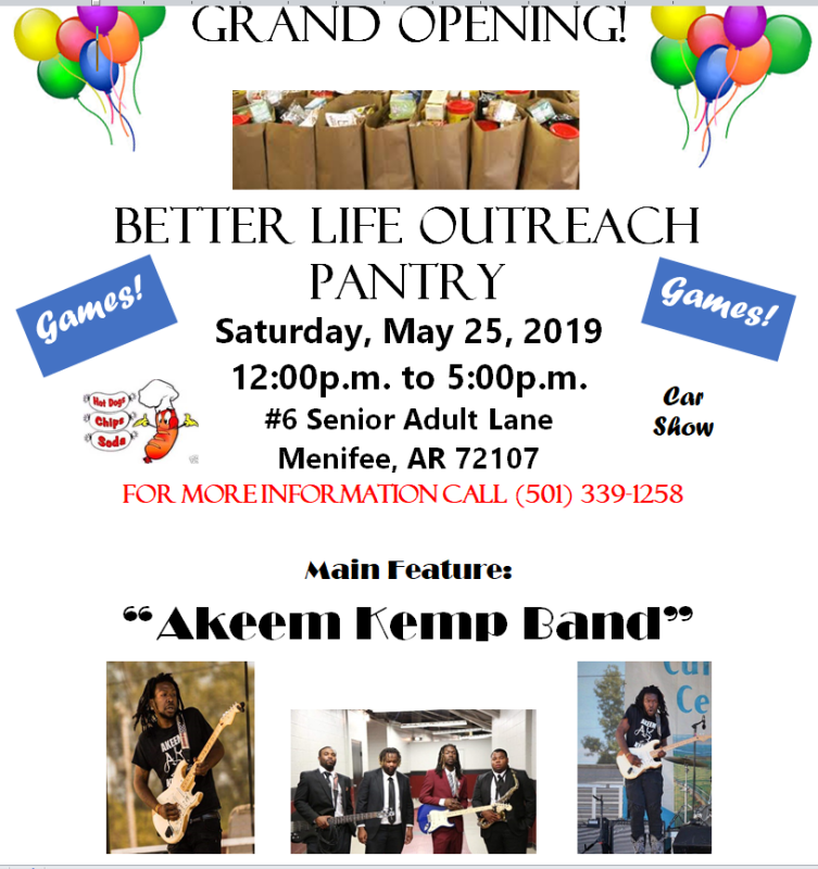 Grand opening for new food pantry set for Saturday