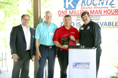 Koontz Electric recognized for safety milestone