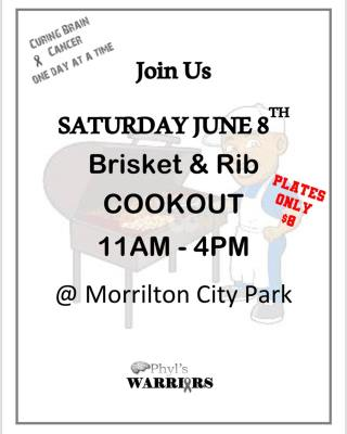 Saturday cookout to benefit Phyl's Warriors