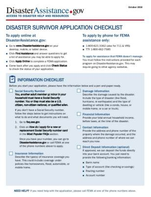 Disaster assistance available