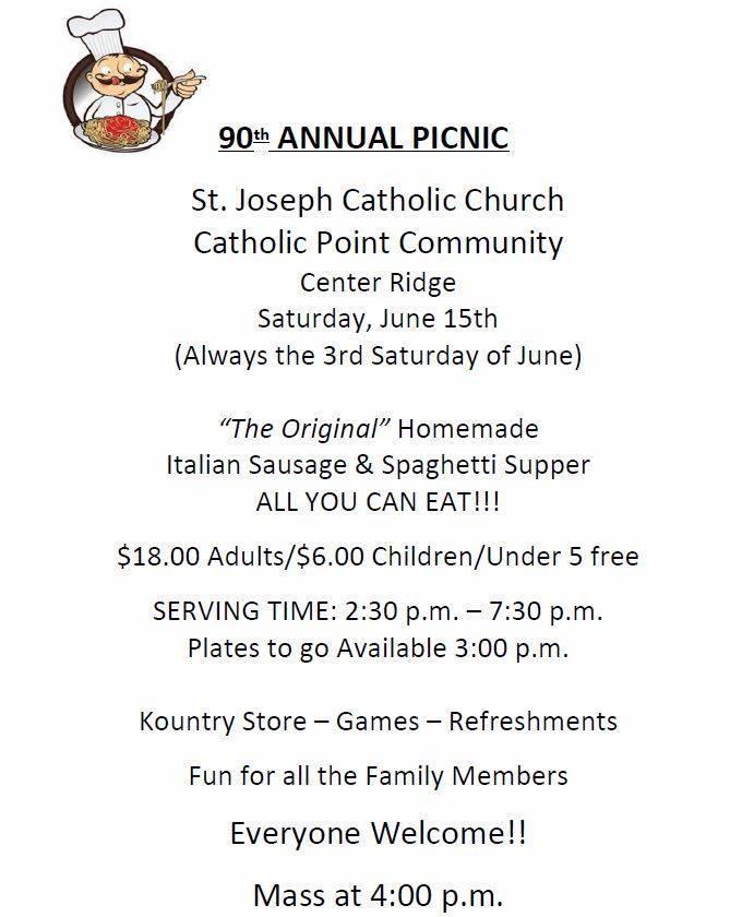 Catholic Point picnic this Saturday