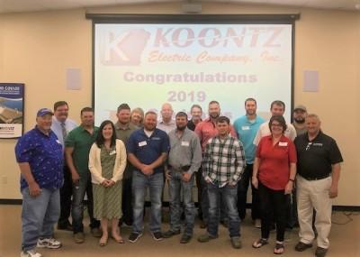 Koontz congratulates apprenticeship graduates