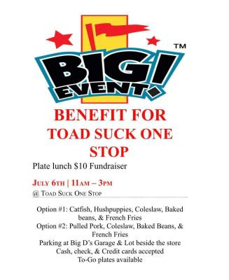 Fundraiser to benefit Toad Suck One-Stop