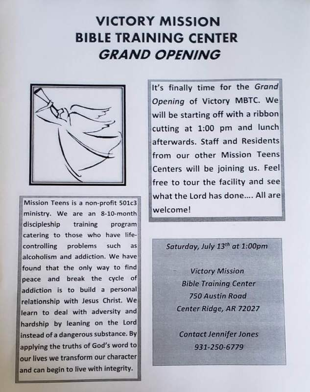 Victory Mission to host grand opening Saturday