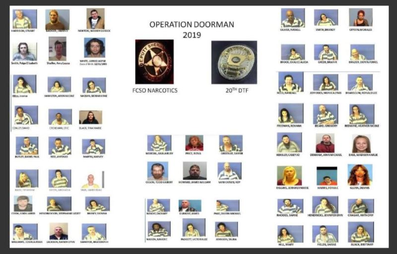Operation Doorman nets 60 arrests in Faulkner County
