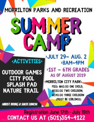 Morrilton Parks and Rec to host summer camp